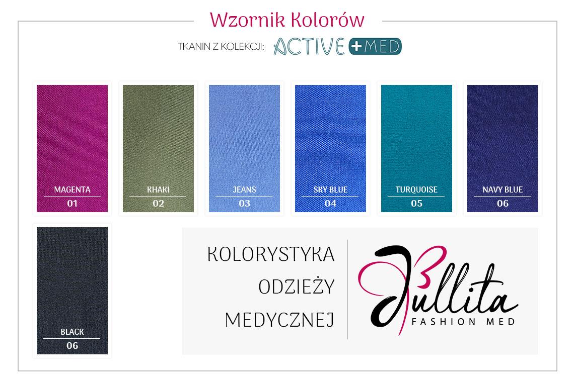 wzornik kolorow Jullita - Active Med
