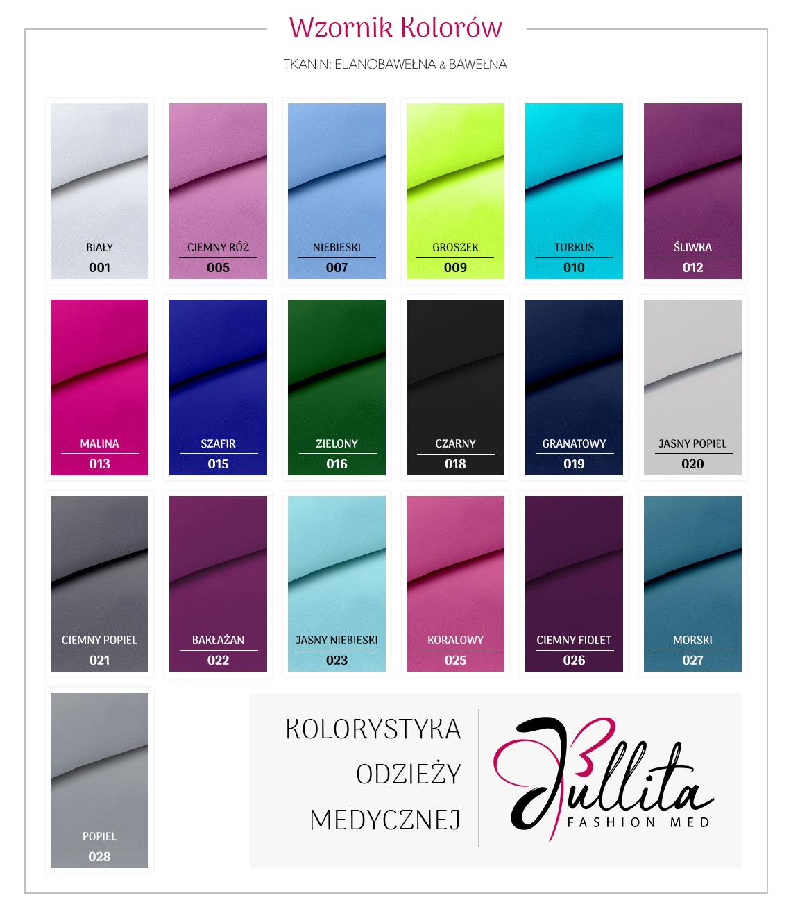 wzornik kolorow Jullita